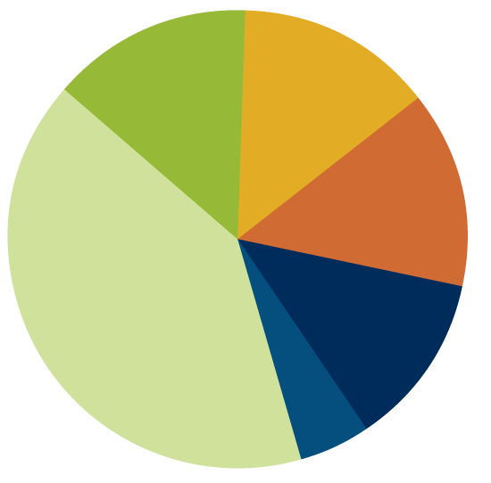 MCDS zip codes pie chart 2018-19